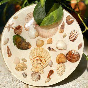 Vintage Resin Seashell Hot Plate Trivet MCM